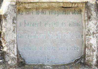 Sárrétudvari I. és II. világháborús emlékmű 2018.05.26. küldő-Bóta Sándor (5)