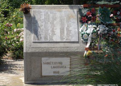 Sárrétudvari I. és II. világháborús emlékmű 2018.05.26. küldő-Bóta Sándor (9)