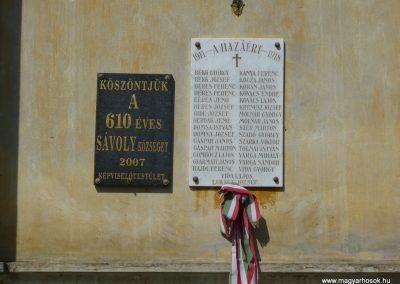 Sávoly I.vh emléktábla 2009.06.09.küldő-Sümec