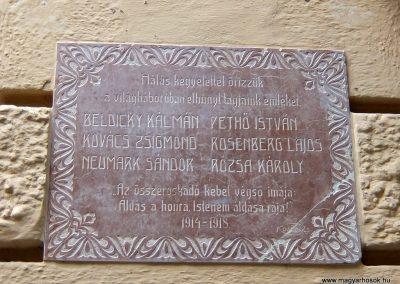 Sümeg I. világháborús emléktábla a Kisfaludi Vendégház falán. 2015.07.25. küldő-Méri (1)