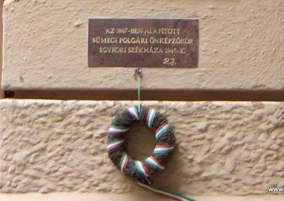 Sümeg I. világháborús emléktábla a Kisfaludi Vendégház falán. 2015.07.25. küldő-Méri (2)