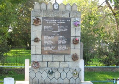 Sajóörös világháborús emlékmű 2007.09.24. küldő-kalyhas