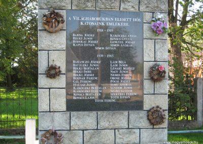 Sajóörös világháborús emlékmű 2007.09.24.küldő-Kályhás (1)