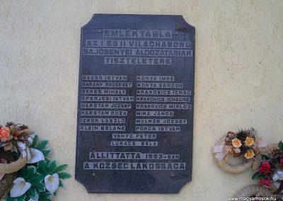 Sajósenye világháborús emléktábla 2012.04.13. küldő-Pataki Tamás (1)