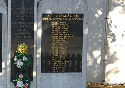 Sajóvelezd világháborús emlékmű 2011.10.16. küldő-Pataki Tamás (3)