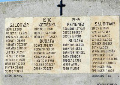 Salomvár felújított világháborús emlékmű 201703.25. küldő-Huber Csabáné (2)