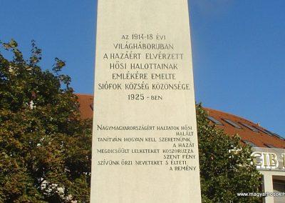 Siófok I. világháborús emlékmű felújítás után 2012.09.22. küldő-Pfaff László, Rétság (3)