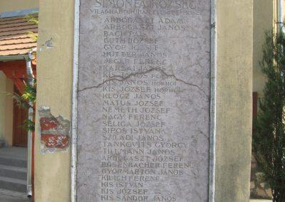 Simonfa I.vh emlékmű 2011.04.23. küldő-kalyhas (3)