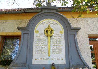 Somlóvecse világháborús emlékmű 2015.10.02. küldő-Méri (2)