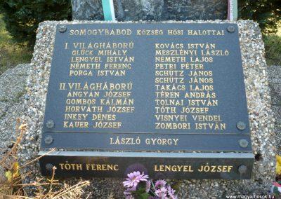 Somogybabod világháborús emlékmű 2010.04.29. küldő-Sümec (5)