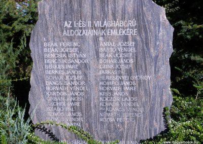 Somogycsicsó világháborús emlékmű 2014.10.18. küldő-Huber Csabáné (1)