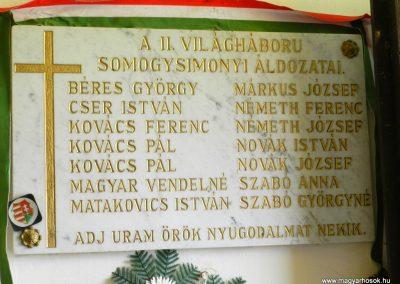 Somogysimonyi II. világháborús emléktábla 2014.08.31. küldő-Huber Csabáné (1)