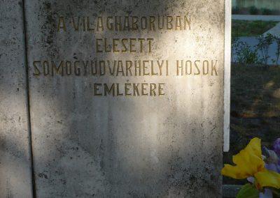 Somogyudvarhely világháborús emlékmű 2009.05.12. küldő-Sümec (3)