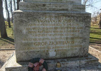 Soponya - Nagyláng , I. világháborús emlékmű