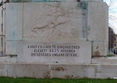Sopron I.vh emlékmű-1.76-os gyalogezred emlékére 2008.04.04. küldő-HunMi (2)