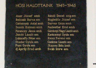 Sopron- az Egyetem falán elhelyezett világháborús emléktáblák 2008.04.04. küldő-HunMi (10)