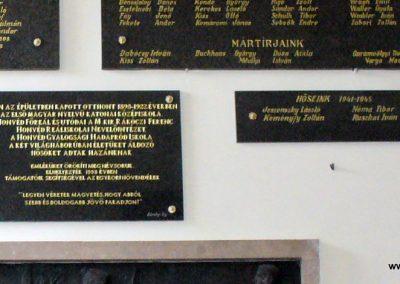Sopron- az Egyetem falán elhelyezett világháborús emléktáblák 2008.04.04. küldő-HunMi (5)