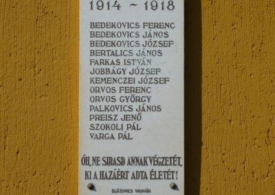Szécsisziget I.vh emléktábla 2009.08.17.küldő-Sümec (1)