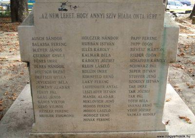 Székesfehérvár Felső Kereskedelmi Iskola világháborús emlékműve 2009.10.20. küldő-Mimóza (3)