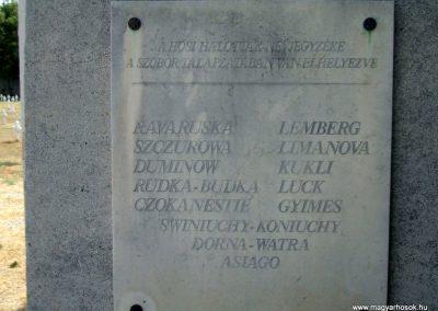 Székesfehérvár Szentlélek katonai temető világháborús emlékművek és sírok 2012.08.25. küldő-Mimóza (8)