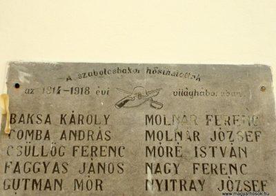 Szabolcsbáka I. világháborús emléktábla 2012.12.29. küldő-Ágca (2)