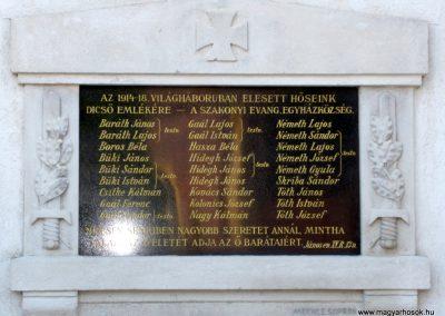 Szakony világháborús emléktáblák az evangélikus templom falán 2010.09.23. küldő-Ágca (2)