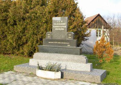 Szap, I. és II. világháborús emlékmű, Felvidék, Győr vármegye