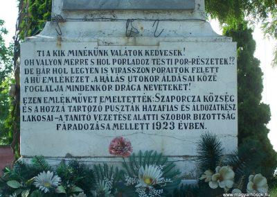 Szaporca I.vh emlékmű 2009.05.23.küldő-Horváth Zsolt (2)