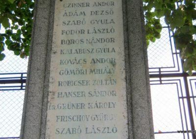Szeged-Újszeged, I. világháborús emlékmű a Szegedi Atlétikai Klub sportolóinak emlékére 2014.10.05. küldő-Emese (4)