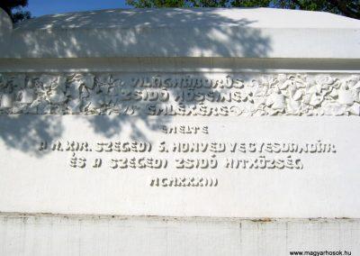 Szeged Izraelita temető felújított I. világháborús emlékmű 2017. 04.09. küldő-Emese (1)