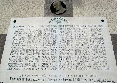 Szeged-Tápé I. világháborús emléktábla 2014.09.21. küldő-Emese (3)