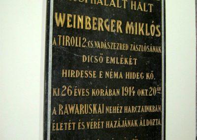 Szeged Zsinagóga I. világháborús emléktáblák 2014.04.29. küldő-Emese (2)