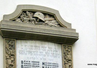Szeged régi zsinagóga I. világháborús emléktáblák 2014.08.31. küldő-Emese (2)