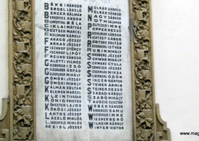 Szeged régi zsinagóga I. világháborús emléktáblák 2014.08.31. küldő-Emese (3)