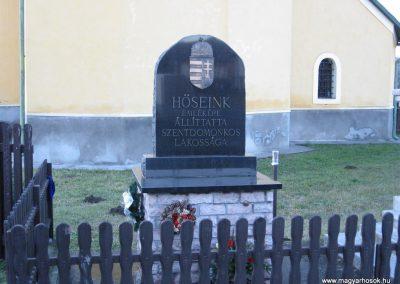 Szentdomonkos világháborús emlékmű 2007.12.04. küldő-kalyhas (1)