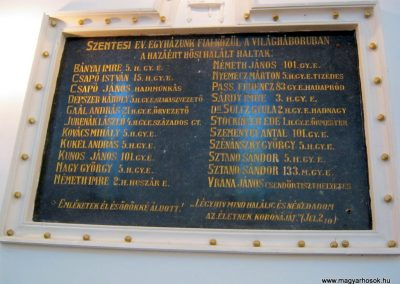Szentes Evangélikus templom I. világháborús emléktábla, keretét Koncz Antal szobrászművész készítette. 2012.09.23. küldő-Emese (1)