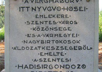 Szentes Kálvária temető I. világháborús emlékmű és sírok 2018.09.18. küldő-Bali Emese (3)