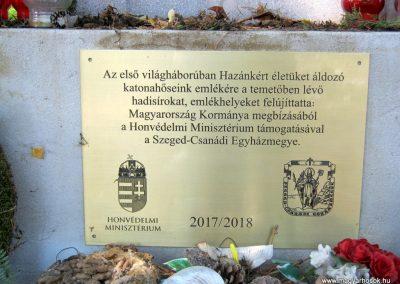 Szentes Kálvária temető I. világháborús emlékmű és sírok 2018.09.18. küldő-Bali Emese (4)