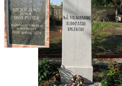 Szentes Szeder temető világháborús emlékmű 2012.09.23. küldő-Emese