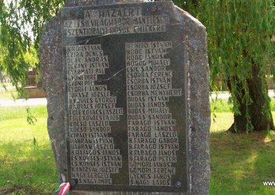 Szentkirály világháborús emlékmű 2009.05.02. küldő-miki (1)