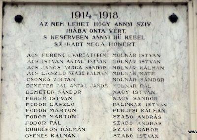 Szentmártonkáta I. világháborús emléktábla 2015.01.17. küldő-kalyhas (2)