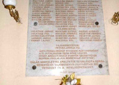 Szirmabesenyő Kisboldogasszony r.k. templom I. világháborús emléktábla 2013.08.13. küldő-Méri (1)