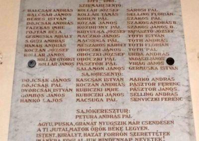 Szirmabesenyő Kisboldogasszony r.k. templom I. világháborús emléktábla 2013.08.13. küldő-Méri (2)