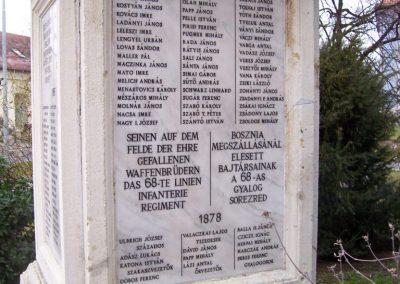 Szolnok A 68-as gyalogezred emlékműve 2009.04.02.küldő-miki (2)