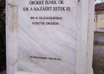 Szolnok A 68-as gyalogezred emlékműve 2009.04.02.küldő-miki (3)