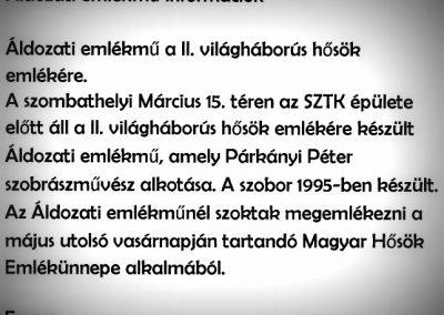 Szombathely II. világháborús -áldozati- emlékmű 2005. küldő Emese (1)
