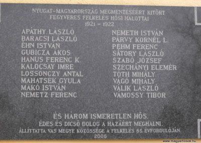 Szombathely- Olad I.vh után emléktábla 2009.12.02. küldő-Gyurkusz (1)