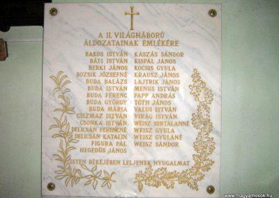 Szurdokpüspöki (Zagyvaszentjakab) II.vh emléktábla a templomban 2008.02.11. küldő-Mónika39