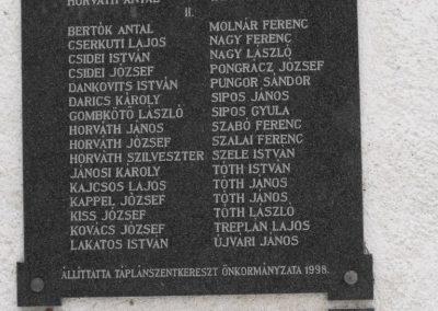 Táplánszentkereszt világháborús emléktábla 2009.01.15.küldő-Gyurkusz (1)