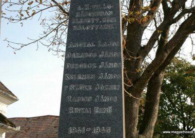 Tótszentgyörgy világháborús emlékmű 2006.10.01. küldő-Dr.Lázár Gyula Levente (4)